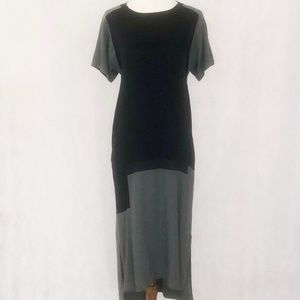 Pure DKNY Colorblock Short Sleeve Dress